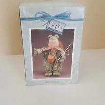 FISHING FROGGY Gifts by House of Lloyd Shelf Sitter Soft Fabric NIB 1996 - $13.86