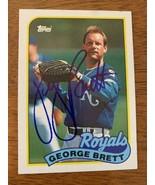 George Brett 1989 Topps Hand Signed Autographed Baseball Card W/COA Roya... - $46.60