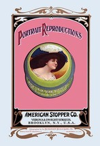 Portrait Reproductions on Tins by American Stopper Co. by Buedingen Box & Label  - $19.99+