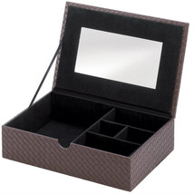 Woven Faux Leather Keepsake Box - $39.99