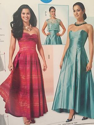 Burda Sewing Pattern 6777 Misses Evening Special Occassion Dress Top Sz 8-18 UC