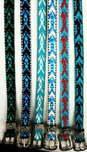 Western HATBAND with Buckle Set Multi-Colored List#4 Cowboy Cowgirl Hat ... - €9,21 EUR