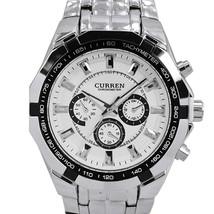 CURREN Mens Watches Top Brand Luxury Men Military Watch Full Steel Men Sports - $27.66