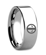 Tungsten Carbide DeadPool Wedding Band Ring - Silver Color - Price for o... - $39.99