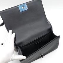 AUTHENTIC CHANEL BLACK Limited Edition Embroidery Leaf Medium Boy Flap Bag image 8