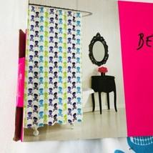 Betsey Johnson Shower Curtain Fabric Skulls Crossbones Skull White 72 X 72 - $26.87