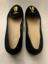 New Cole Haan Women's Black Felt Slip-On Loafers 9.5 B Gold Tassels Shoes image 7
