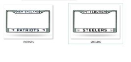 NFL Chrome License Plate Frame -Select- Team Below - $15.95+