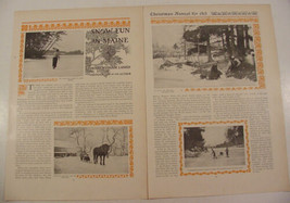 1913 Maine Snow Fun Magazine Article by Henry Wysham Lanier with 6 Photos - $9.95