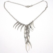 Silver 925 Necklace Chain, Oval, Waterfall Cornets Pendants, Horn, Charms image 2