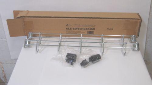 Alera ALESW59HB424SR Hook Bar 24 Inches 5 Hooks Set of 2