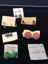 Vintage Lot Of 10 Pair Of Small Pierced Earrings (1468) - $7.50
