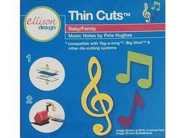 Ellison Design Thin Cuts Music Notes Die #22085 image 2