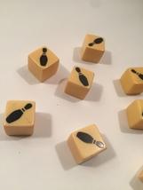 Vintage 60s Bowling Pin dice (9) image 2