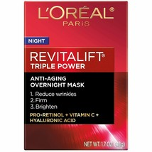 L'Oreal Paris Revitalift Triple Power Intensive Overnight Face Mask with... - $15.88