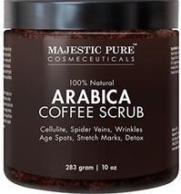 Majestic Pure Arabica Coffee Scrub, Natural Body Scrub For Skin Care, Stretch - - $39.68