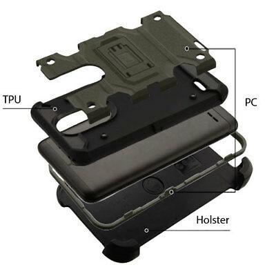Dark Grey/Black 3-in-1 Storm Tank Hybrid Cover Combo for LG K30/Premier Pro