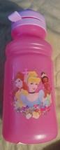 Disney Princess Kids Girls Pink Sports Bottle BPA Free Spillproof NEW - $5.95