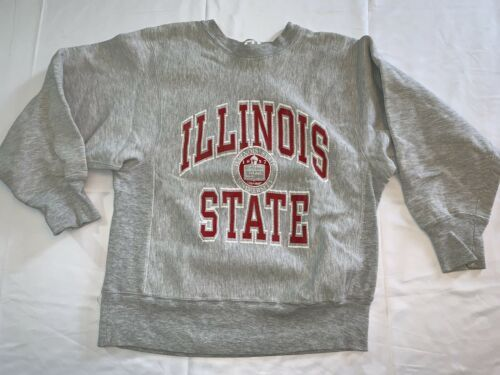 VTG Champion Reverse Weave Sweatshirt Illinois State University 80s College Med