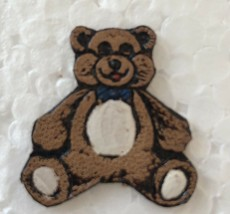 """Vintage Teddy Bear Stitched Pin / Broach Approx 1"""" length - $12.49"""