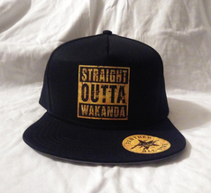Black Panther Custom All Star Snap Back Cap Hat Straight Outta Wakanda K... - $30.00