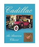 Cadillac The American Classic tin4037 Book Large Color DOLLHOUSE Miniature - $9.82