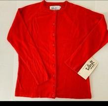 Talbott Taralan Cardigan Red Vintage 1960s Button Front - $28.37