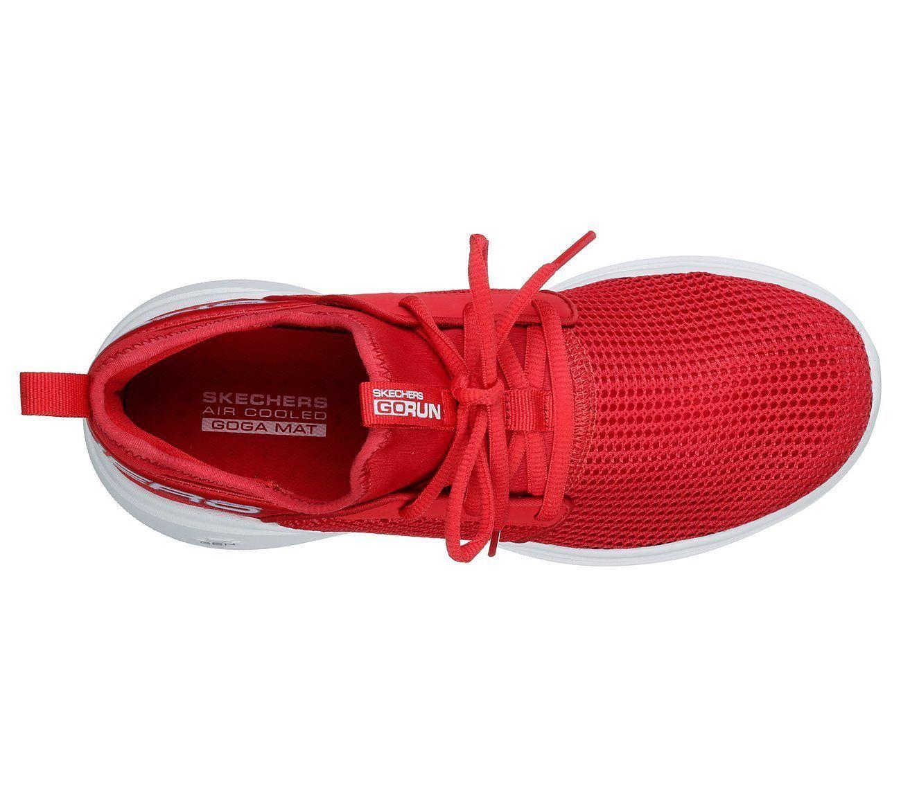 Skechers Red GO Run Fast shoe Women Sport Workout mesh Comfort Casual Soft 15103 image 5