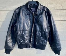 1987 Us Army Air Force Flyers Men's Leather Type A-2 Flight Jacket - Size Large - $143.55