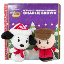 Hallmark Itty Bittys Story Book Set Peanuts Gang Christmas Charlie Brown Snoopy - $34.40
