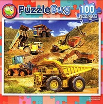 Construction Site - PuzzleBug - 100 Piece Jigsaw Puzzle - $4.27