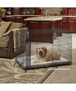 MidWest Homes for Pets Dog Crate | iCrate Double Door Folding Metal Dog ... - $29.49+