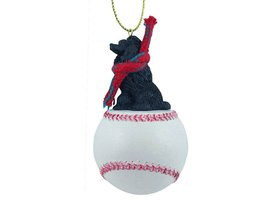 Poodle Black Baseball Ornament - $17.99