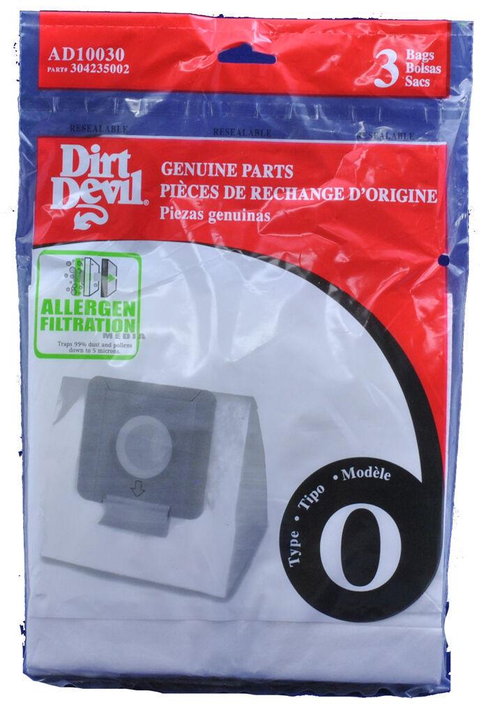 Dirt Devil Type O Vacuum Cleaner Bags 304235002