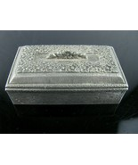 """Vintage Heritage Pewter Box Dated 1991 LINED MADE IN USA Very Cute!! 3"""" - $19.75"""