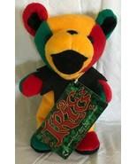 """Grateful Dead Plush Beanie Bear 7.5"""" IRIE Red Green Yellow NWT 1998 - $17.81"""