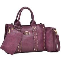 Women Vegan Leather Handbags Fashion Satchel Bags Shoulder Purses Top Ha... - $40.53