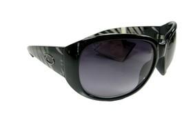 Oscar de la Renta Logo Sunglasses Black Silver Zebra Authentic Designer NWT - $44.54