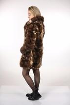 Brown Sable Fur Coat Sectional size Large US 12 EU 42  Genuine Sable 100% image 2