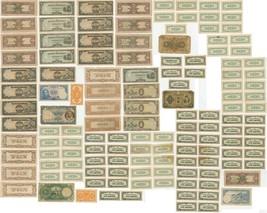 VINTAGE NOTE LOT WWII JAPANESE 100 10 5 PESOS CENTAVO 1940 EGYPTIAN POUN... - $89.88