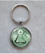 Pyramid All Seeing Eye Illuminati Currency Free Mason Money Dollar Keychain - $14.00+