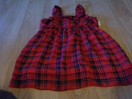 Girl's Size 7 Justice Sassy Red Navy Plaid Tank Top Summer EUC - $14.00