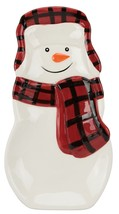Holiday Buffalo Plaid Snowman Spoonrest (Factory Defect) - $3.50