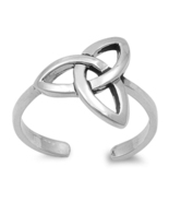 Knot Style Women's Adjustable Toe Ring 14k White Gold Plated 925 Sterlin... - $9.99