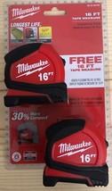 Milwaukee 4.9m compact ruban mesure (paquet de 2) - $24.70