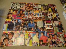 George Michael teen magazine pinups clippings Tiger Beat Bop Huge Lot Bravo