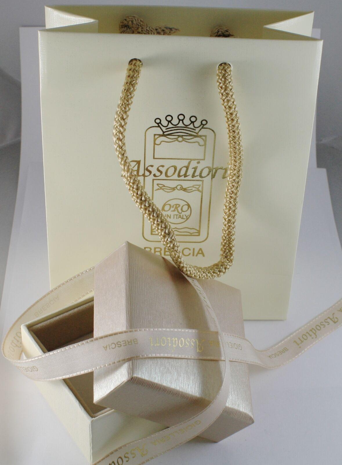 Kette aus Weißgold 750 18K Länge 40 45 50 60 cm Rolo Ringe Dicke 4 MM