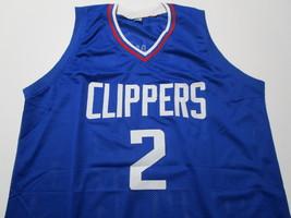 KAWHI LEONARD / NBA MVP / AUTOGRAPHED L.A. CLIPPERS BLUE CUSTOM JERSEY / COA image 2