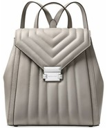 Michael Michael Kors Whitney Quilted Small Backpack (Pearl Grey, One Size) - $277.10