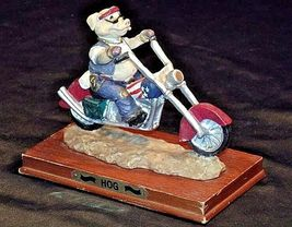 HOG Motorcycle Statue Figurine Replica 305-CVintage image 3